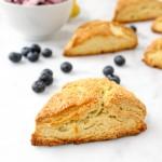 Lemon Cream Scones with Vanilla Berry Butter | yestoyolks.com
