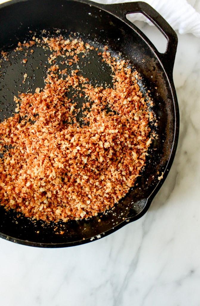 Ricotta Gnocchi with Asparagus, Peas, & Garlicky Breadcrumbs   yestoyolks.com