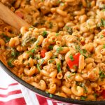 One-Pot Cheesy Beef Macaroni | yestoyolks.com