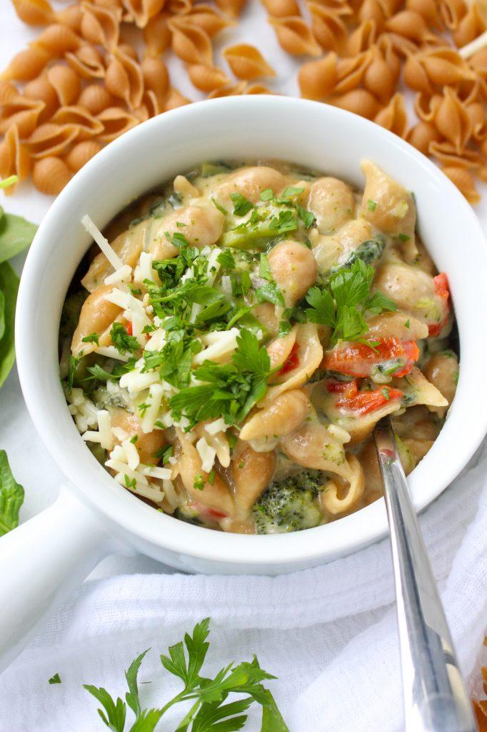 One-Pot Broccoli Shells & Cheese | yestoyolks.com