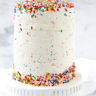 Mixed Berry Confetti Layer Cake