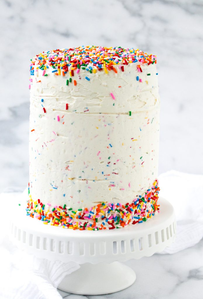 Mixed Berry Confetti Layer Cake   yestoyolks.com