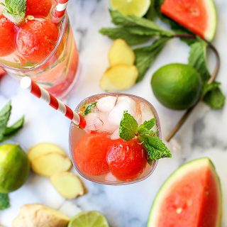 Ginger-Mint Watermelon Mojitos