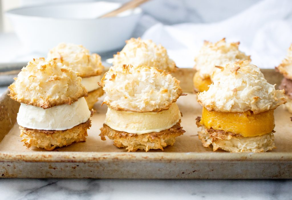 Coconut Macaroon Ice Cream Sandwiches | yestoyolks.com