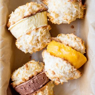 Coconut Macaroon Ice Cream Sandwiches
