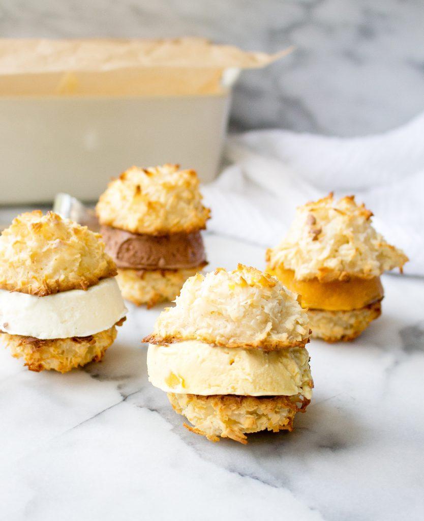 Coconut Macaroon Ice Cream Sandwiches | yestoyolks.com