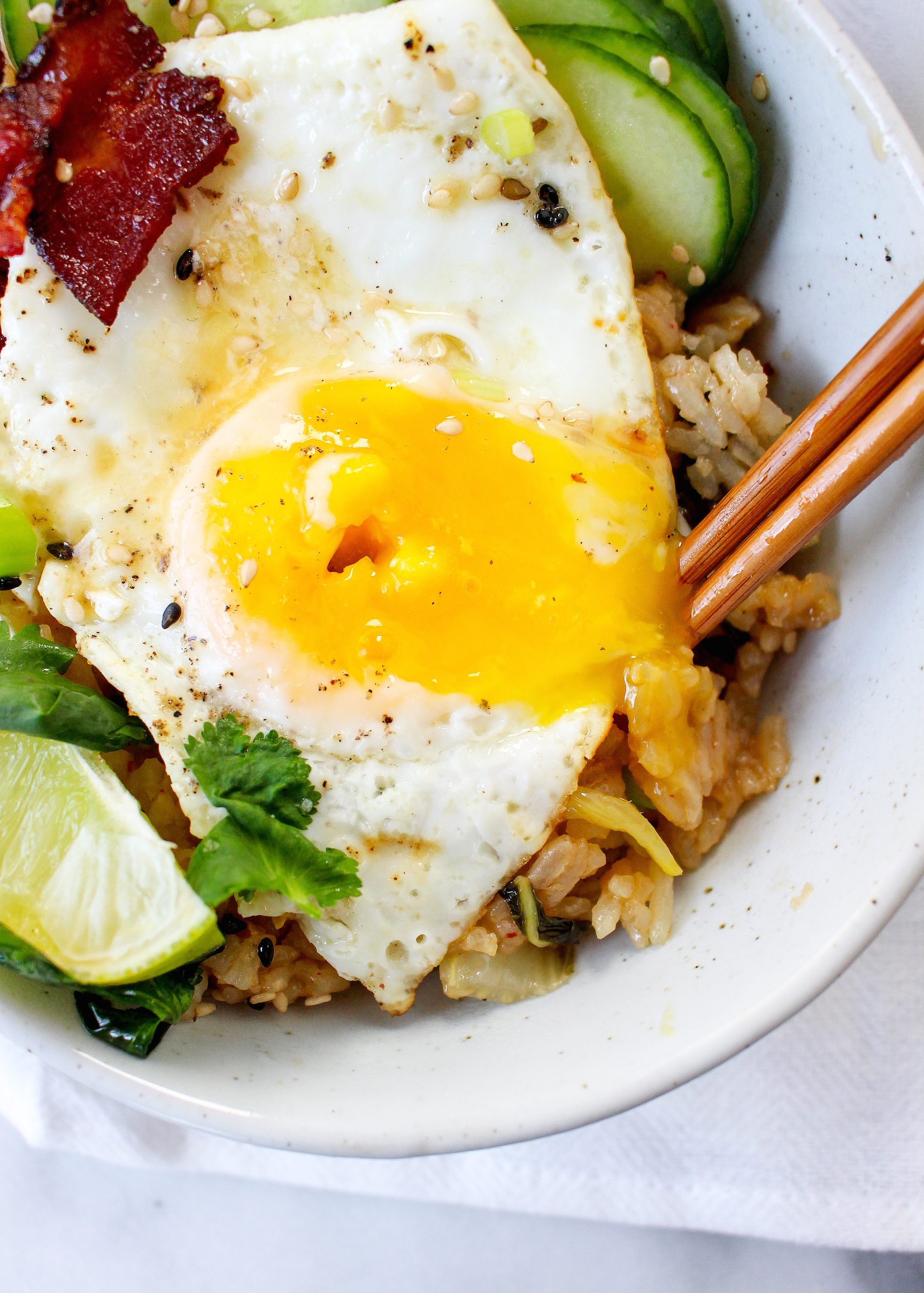 how to make kimchi fried rice with egg
