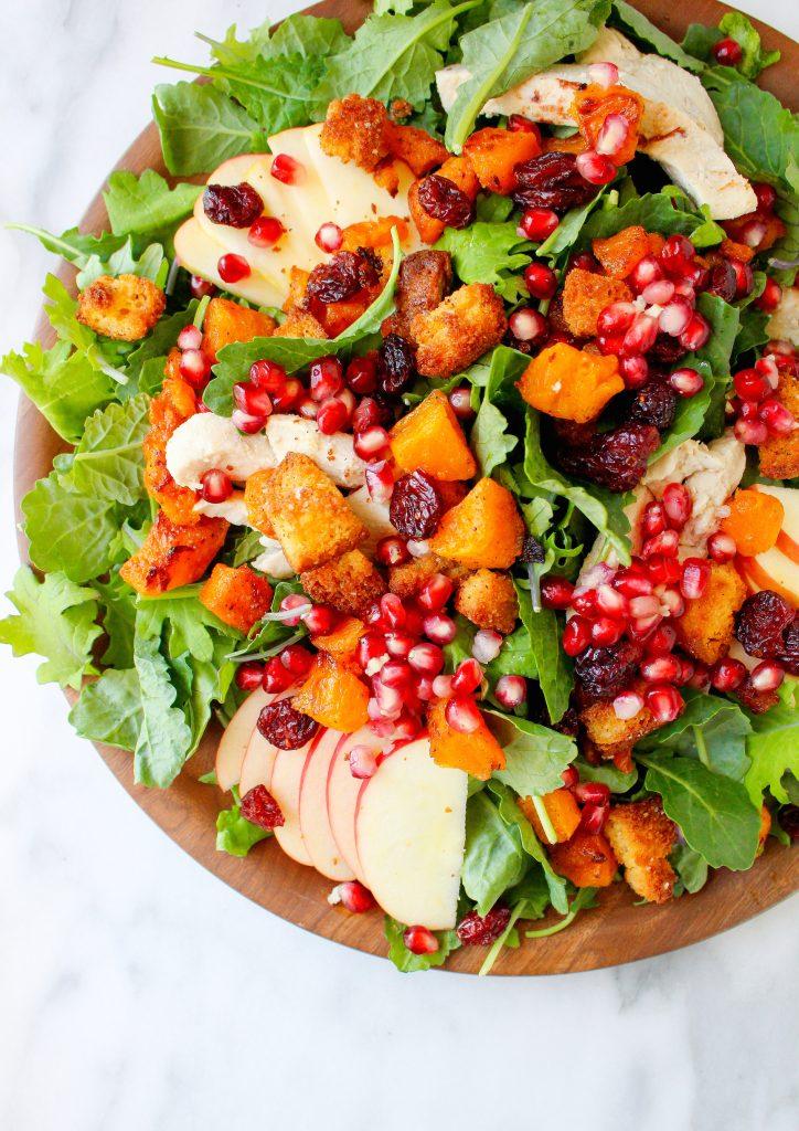 Autumn Harvest Salad with Creamy Parmesan-Sage Dressing
