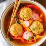 Bahn Mi Meatball Bowls