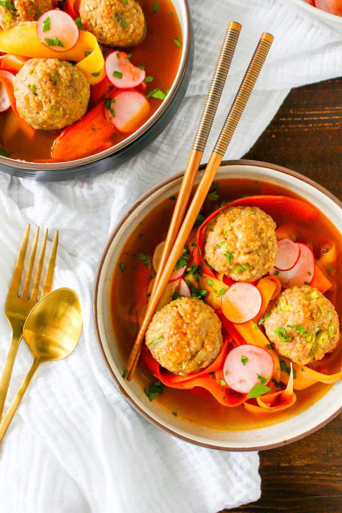 Banh Mi Meatball Bowls