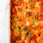Mini Meatball Pasta Bake