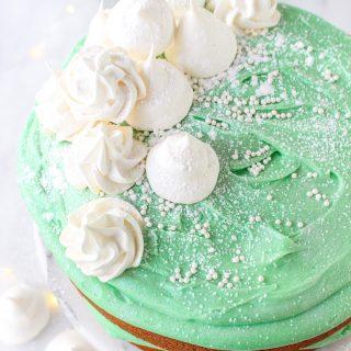 Pistachio & White Chocolate Winter Wonderland Cake