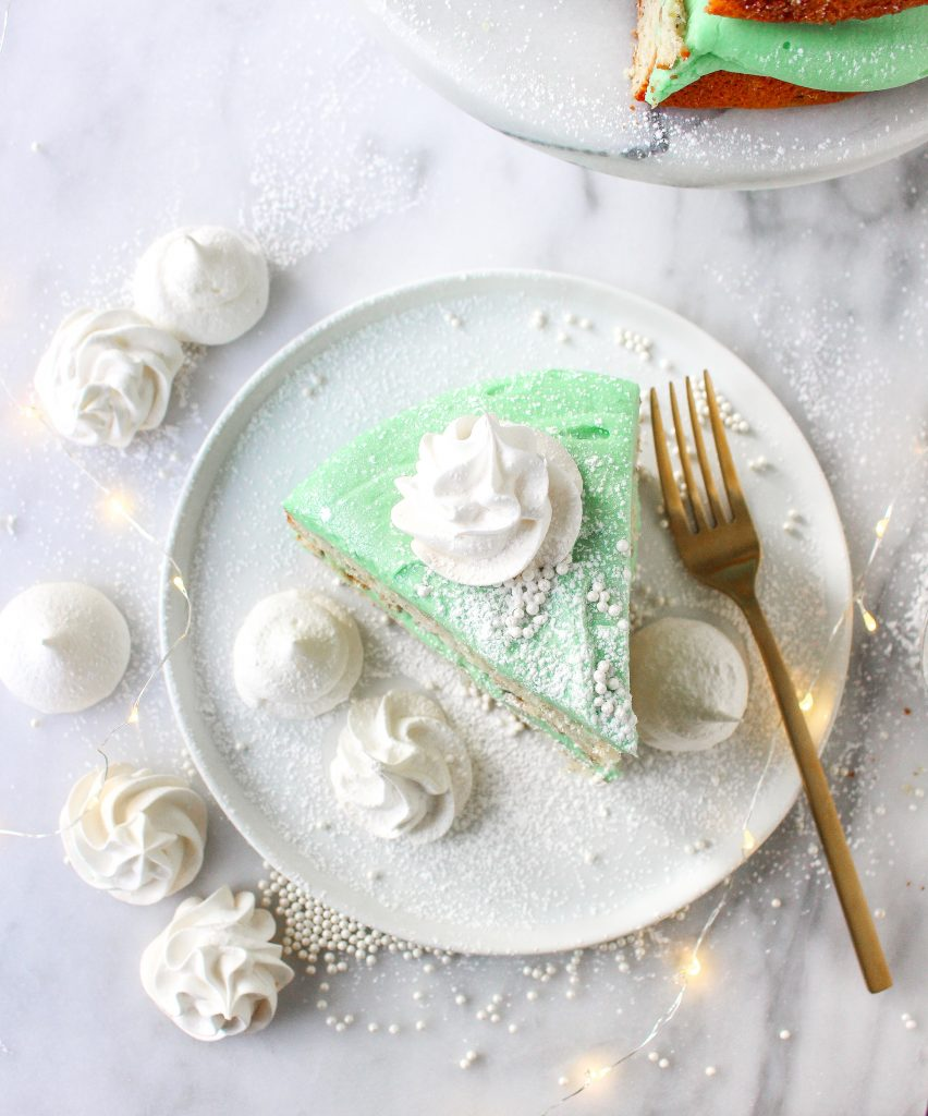 Pistachio & White Chocolate Winter Wonderland Cake