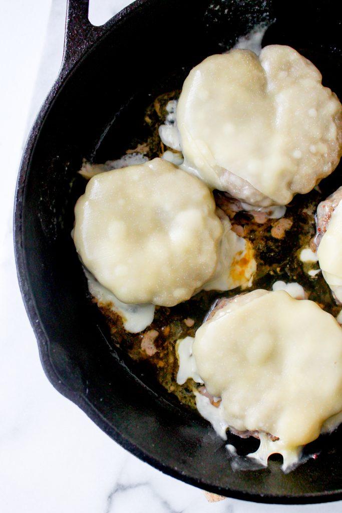Roasted Garlic Burgers with Pepperoncini Aioli & Crispy Salami