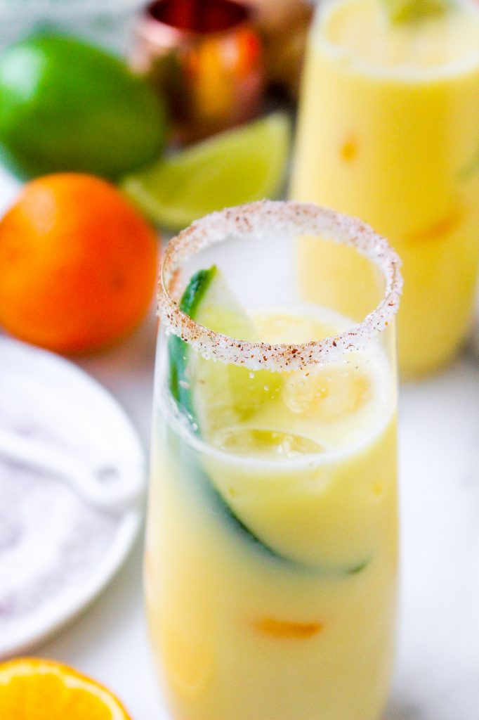Clementine Creamsicle Margaritas with Chili Salt