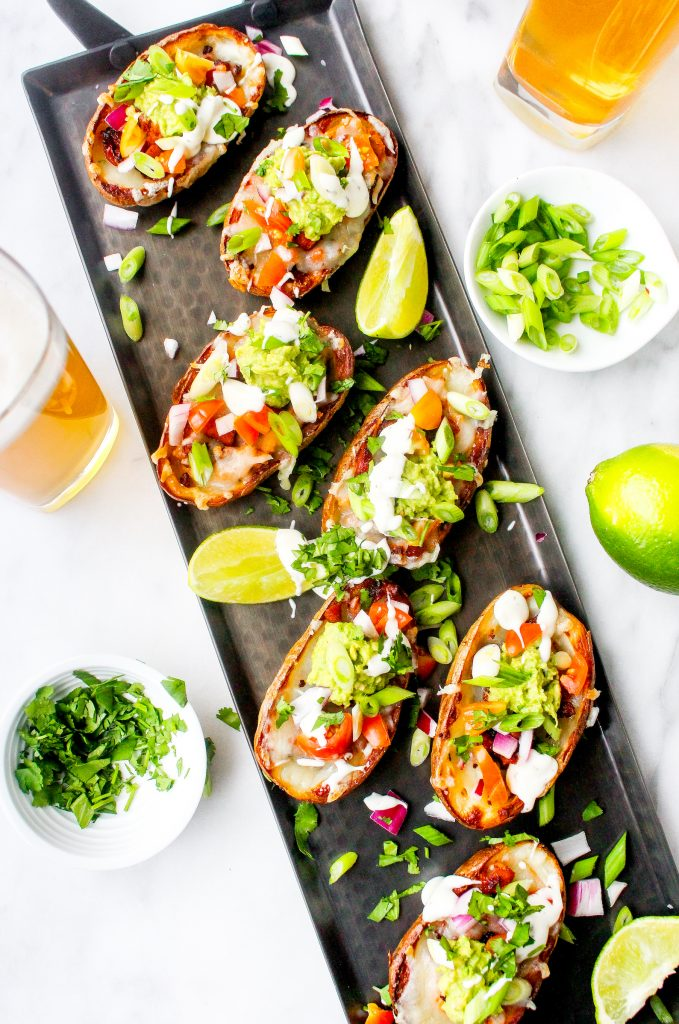 Chorizo & Avocado Nacho Potato Skins