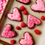 Chocolate Raspberry Brownie Hearts