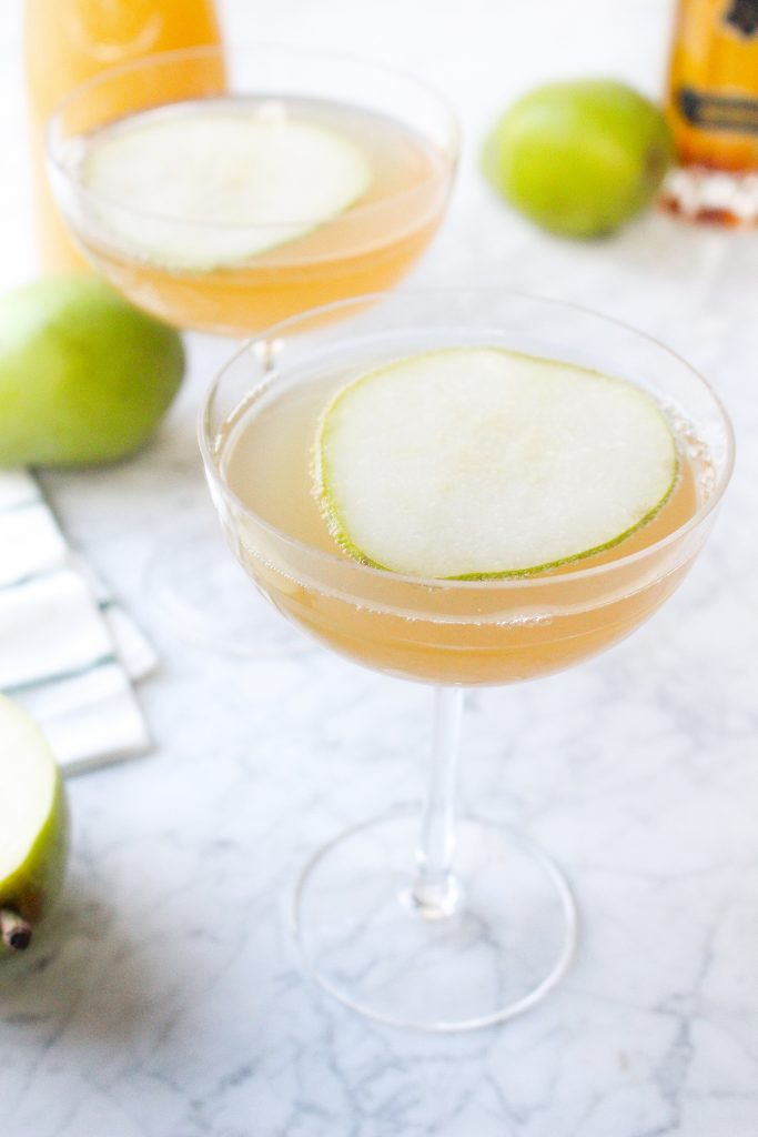 Pear Elderflower Champagne Cocktails
