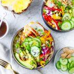 Ginger-Scallion Pineapple Chicken & Rice Bowls