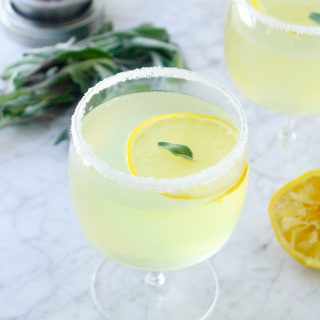 Sage & Lemon Gin Martinis