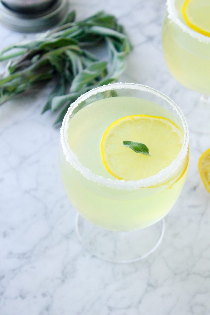 Sage & Lemon Gin Martinis