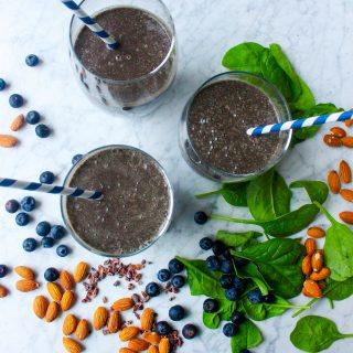 Chocolate Blueberry Superfood Smoothie
