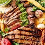 Cuban Flank Steak with Roasted Carrots & Chimichurri
