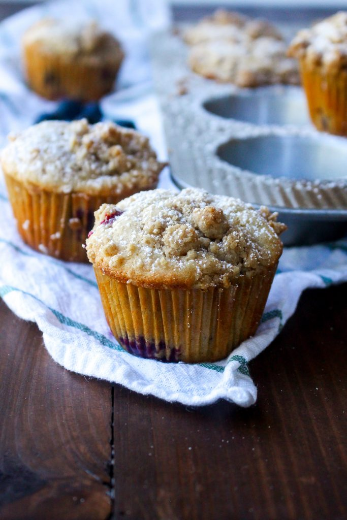 Blueberry Coffee Cake Muffins with Sweet Chai Butter