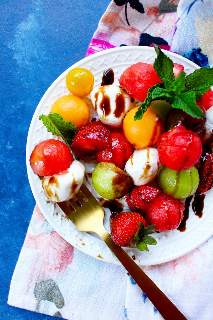 Strawberry & Melon Caprese Salad