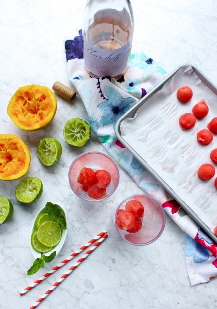 Rosé & Watermelon Sunshine Spritzers