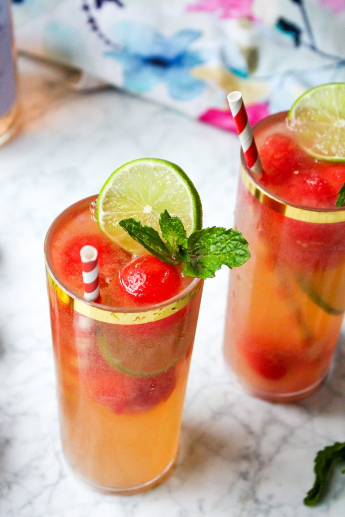 Rosé & Watermelon Sunshine Spritzers