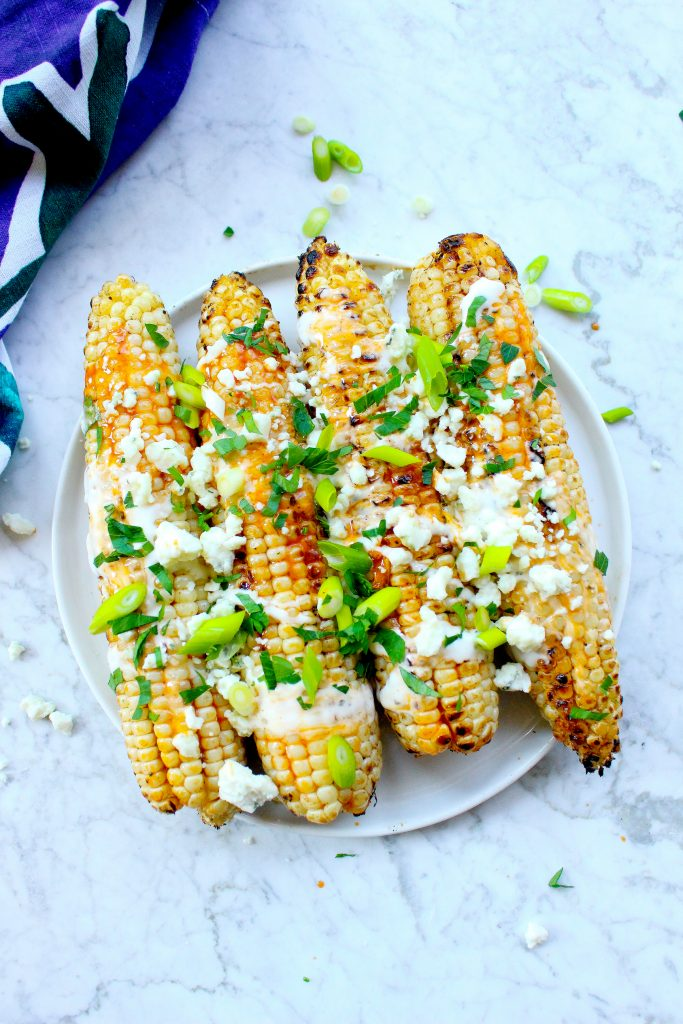 Buffalo Grilled Corn