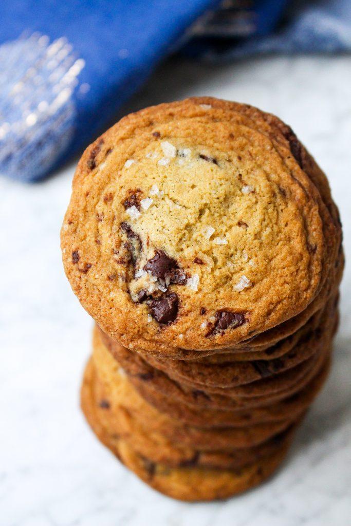 Mascarpone Ice Cream & Salted Chocolate Chunk Cookie Sandwiches