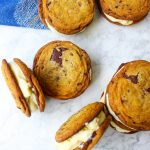 Mascarpone Ice Cream & Salted Chocolate Chunk Cookie Sandwiches