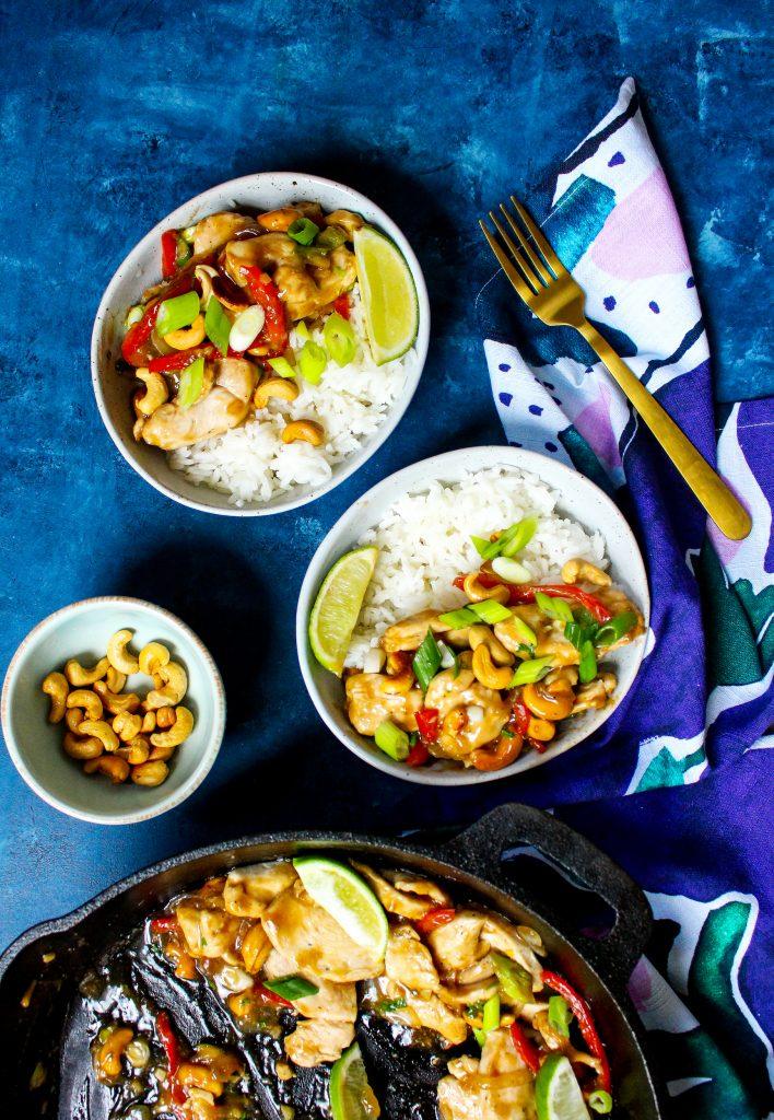 Thai Cashew Chicken Stir Fry