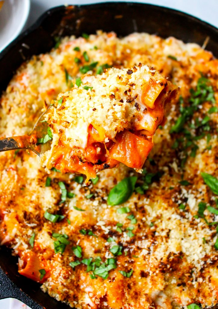 One-Pot Chicken Parmesan Pasta Skillet