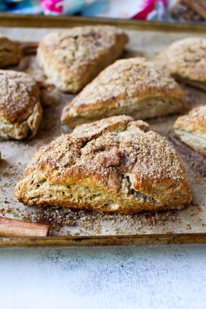 Cinnamon Sugar Crunch Scones