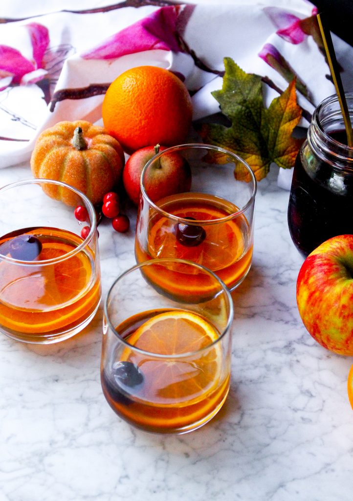 Apple Cider Manhattans