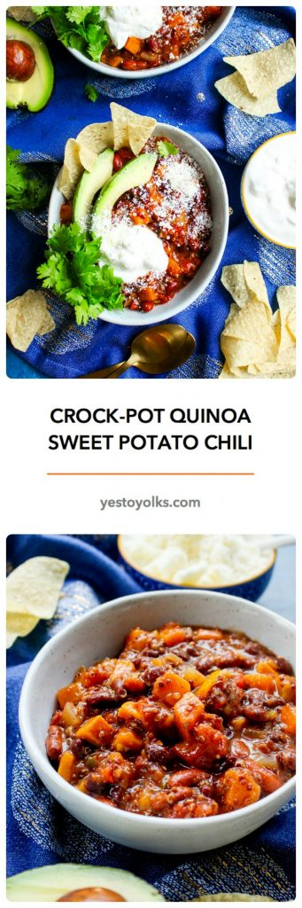 Crock-Pot Quinoa & Sweet Potato Bean Chili