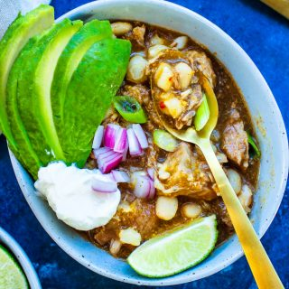 Crock Pot Pork Pozole Verde