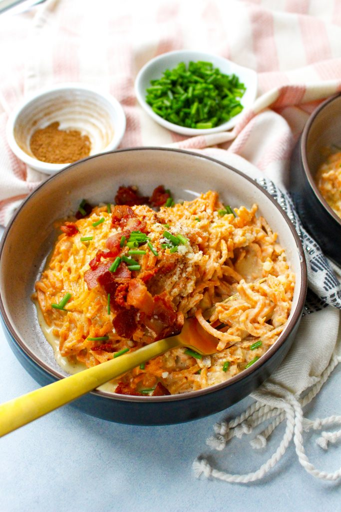 Sweet Potato Noodles with Chai-Spiced Cream Sauce