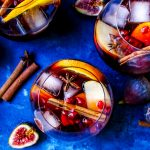 Spiced Harvest Sangria with Figs & Persimmons