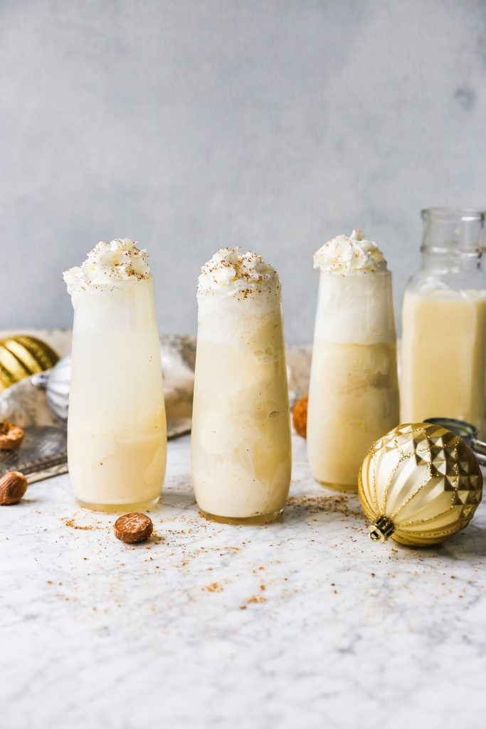 Eggnog Ice Cream Floats