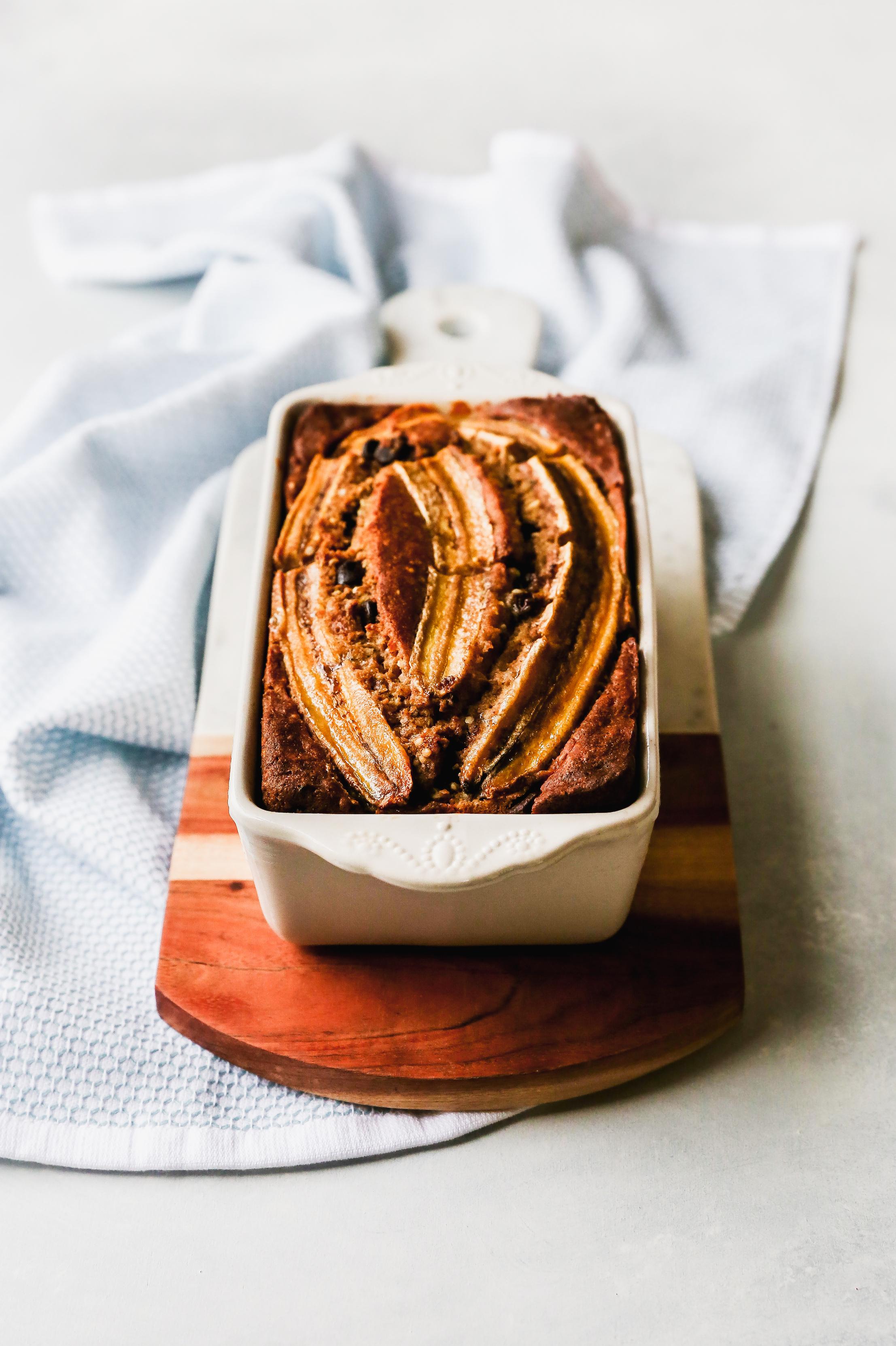 Healthy Coconut Oil Banana Bread