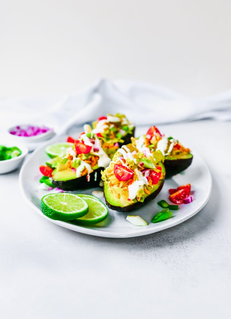 Chicken Taco Stuffed Avocados