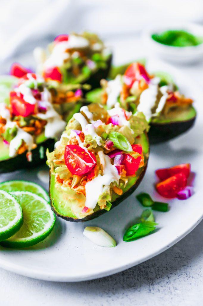 Chicken Taco Stuffed Avocados