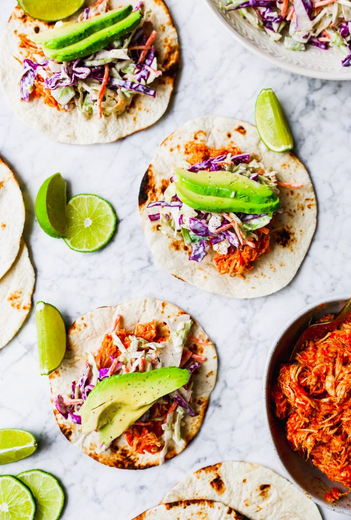 Slow-Cooker Buffalo Chicken Tacos