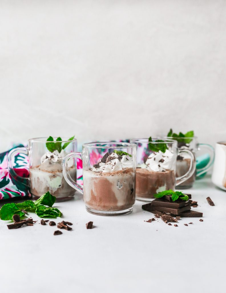Minty Hot Chocolate Gelato Floats