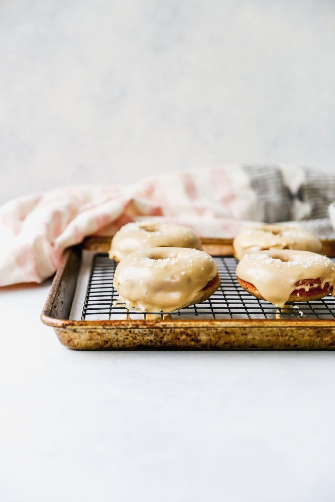 Baked Salted Maple Donuts