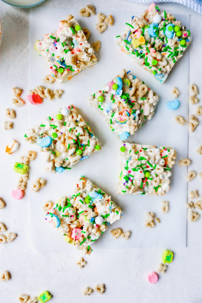 Irish Cream Lucky Charms Treats